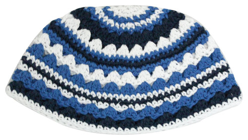 Crochet Frik Striped JEWISH HOLY Hat Yarmulke Knitted Tribal Jewish Yamaka Kippa