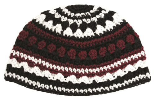 Crochet Colorful Frik cupola Hat Cap Yarmulke Knitted Tribal Jewish Yamaka Kippa