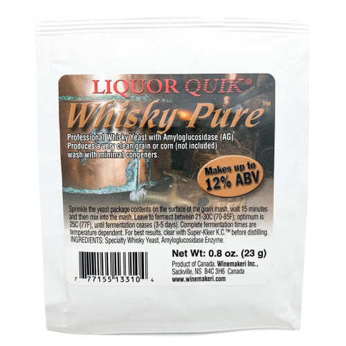 LiquorQuik® Whiskey Pure Yeast, 23g