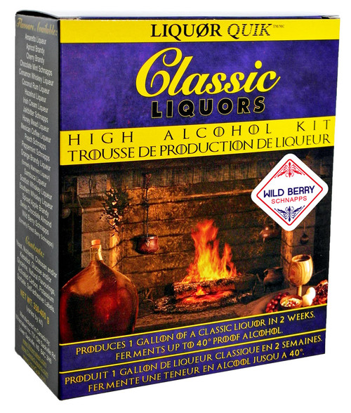 Classic Liquors 4L High Alcohol Kit - Wild Berry Schnapps
