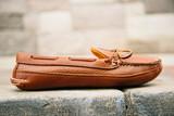 Mens Bull Hide Deerskin Lined Triple Sole Canoe Moc