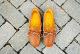 Mens Buffalo Hide Deerskin Lined Triple Sole Canoe Moc