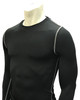 Smitty Black Long Sleeve Compression Shirt