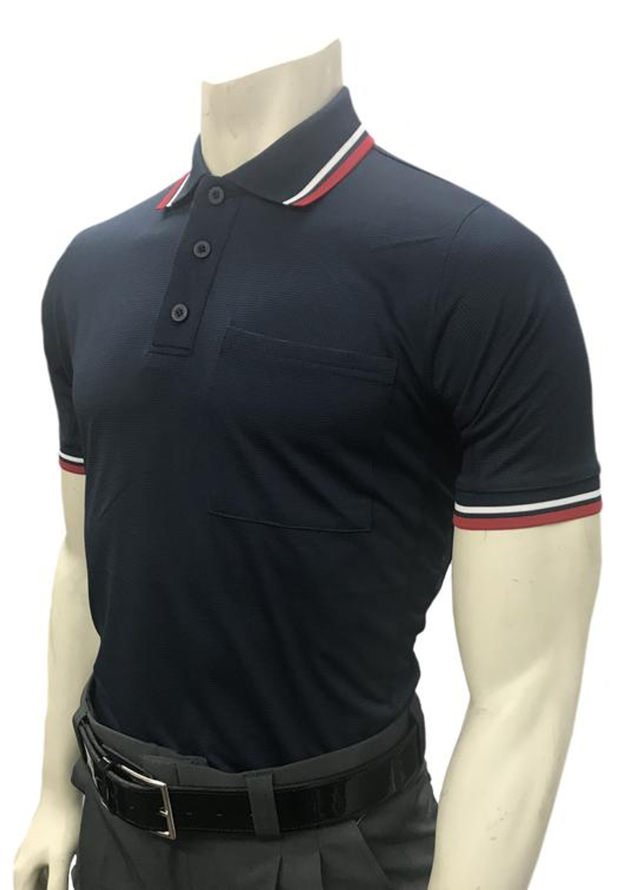 Smitty Official's Apparel Body Flex® Traditional Style Navy Umpire Shirt