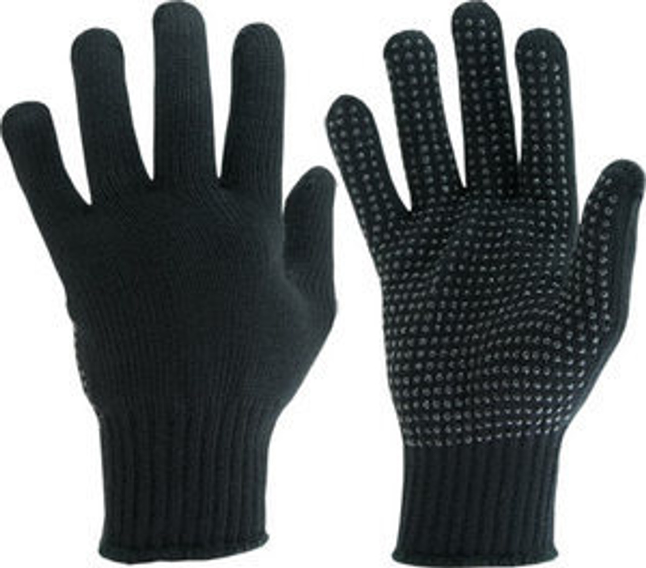 Manzella Black Knit Official's Gloves