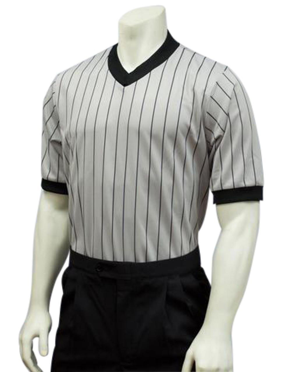 Smitty Ultra Mesh Grey Basketball Referee Shirt