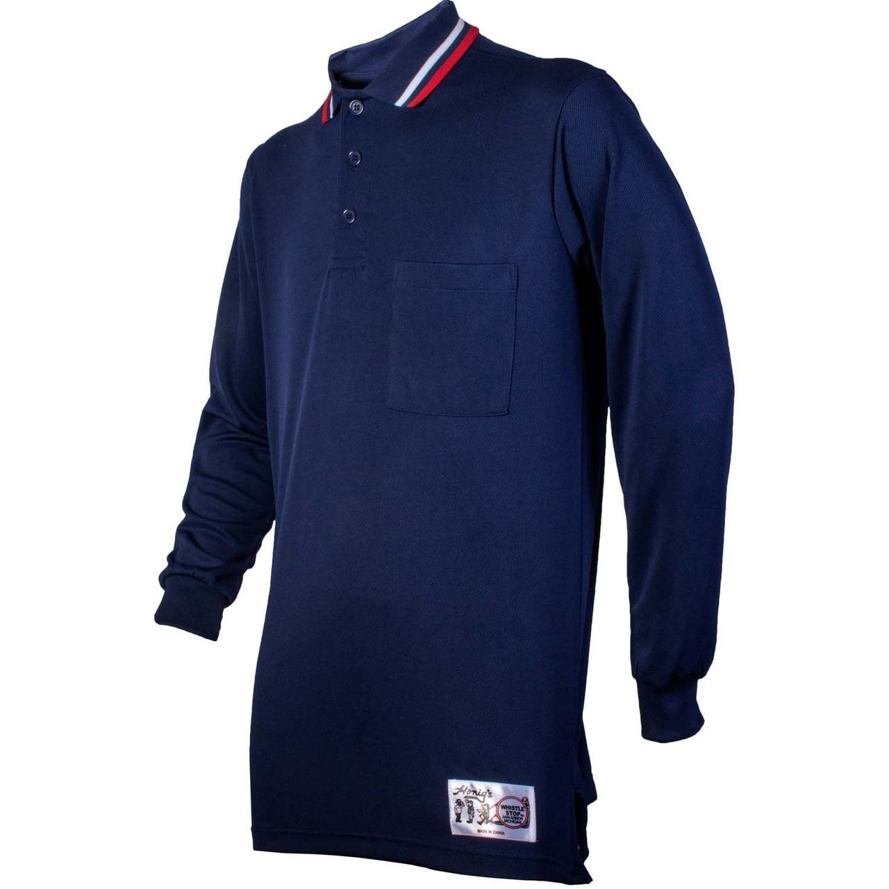 Honig's Navy Blue Long Sleeve Umpire Shirt