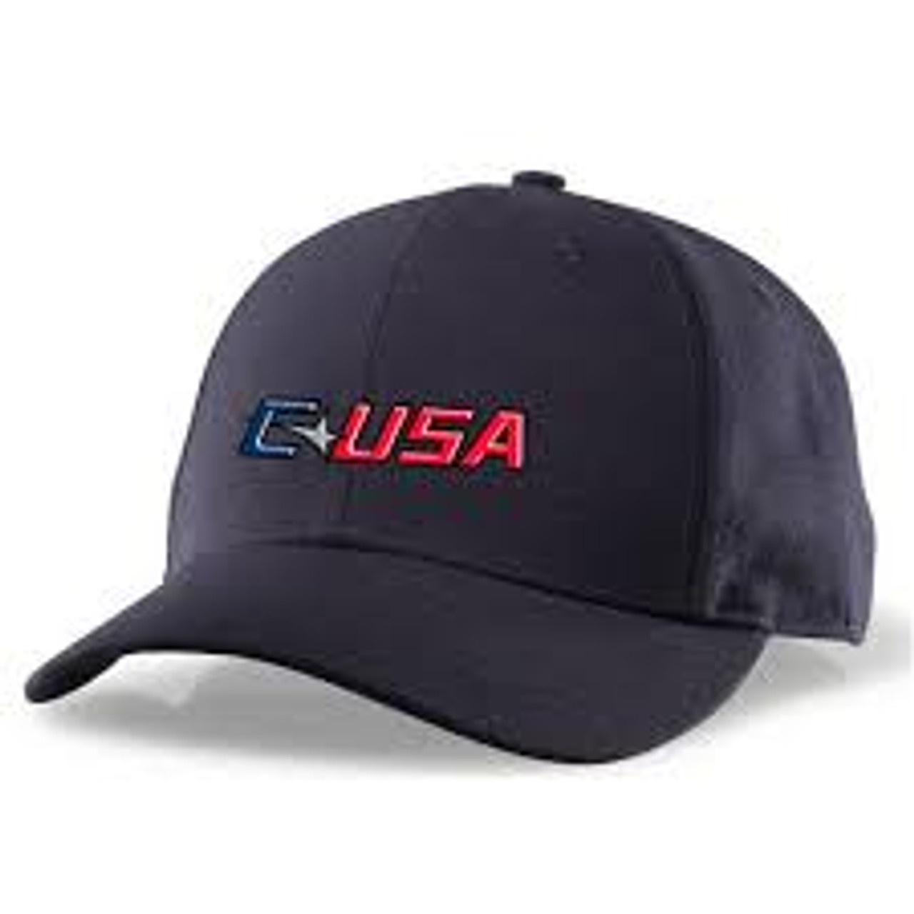 Conference USA Softball Navy Fitted Wool 4-stitch Umpire Cap