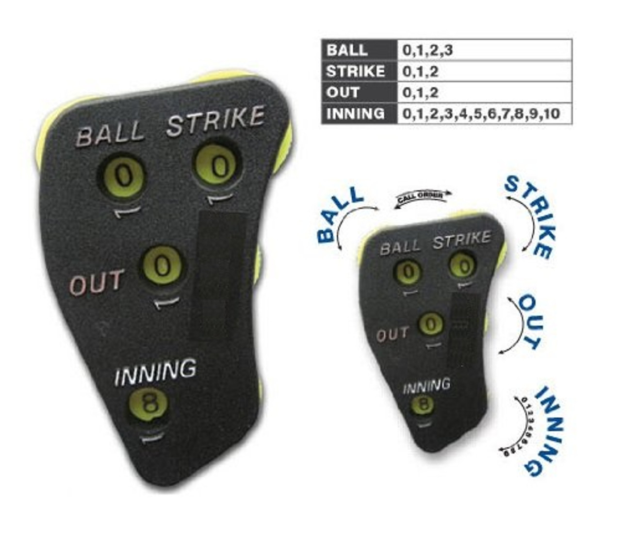 4-Dial Call Order Umpire Indicator with Optic Yellow Dials