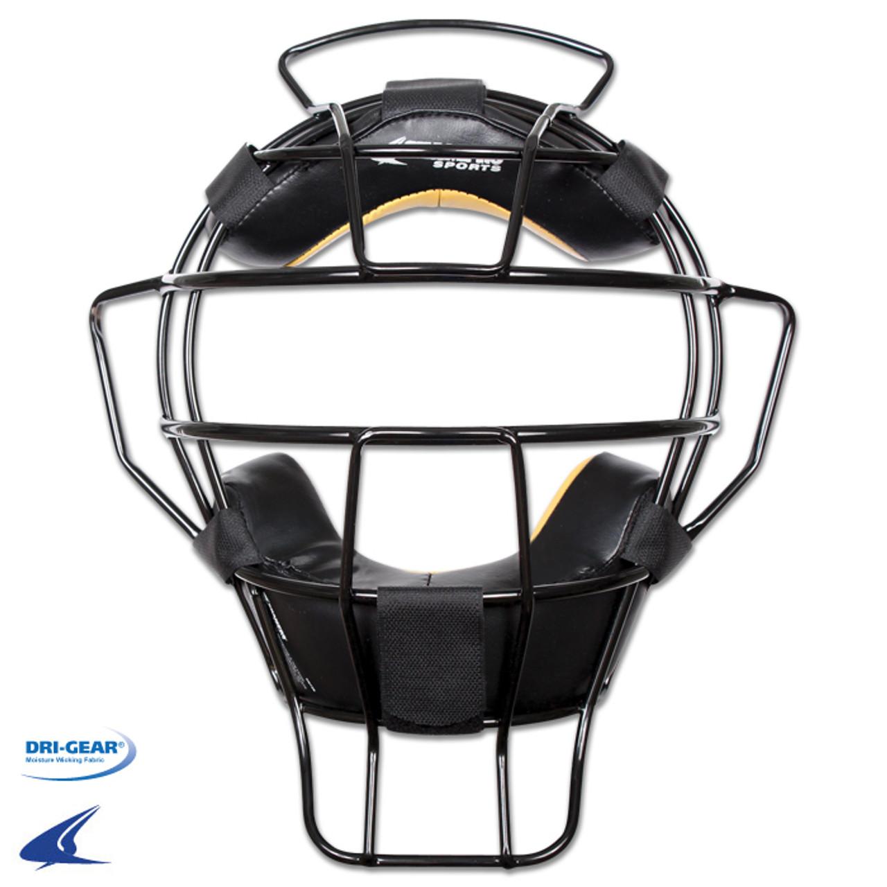 Champro Lightweight Umpire Mask Leather Biofresh Pads