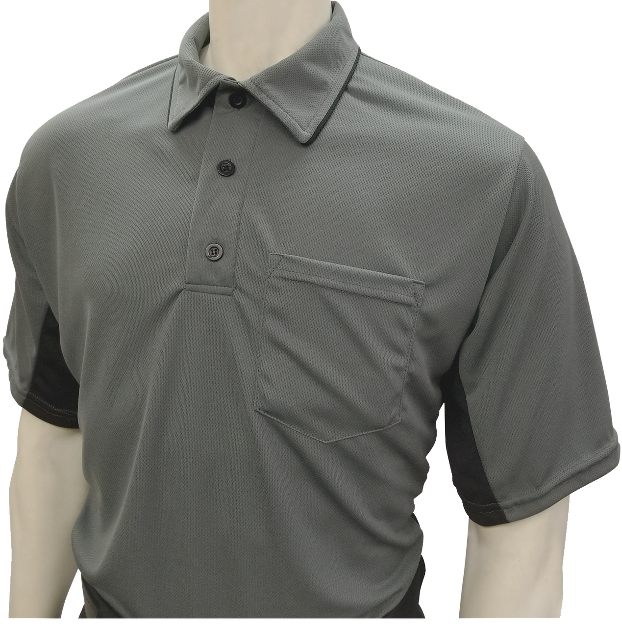 e31e972e7d6 Smitty Official s Apparel MLB Style Charcoal Umpire Shirt with Black Side  Panel