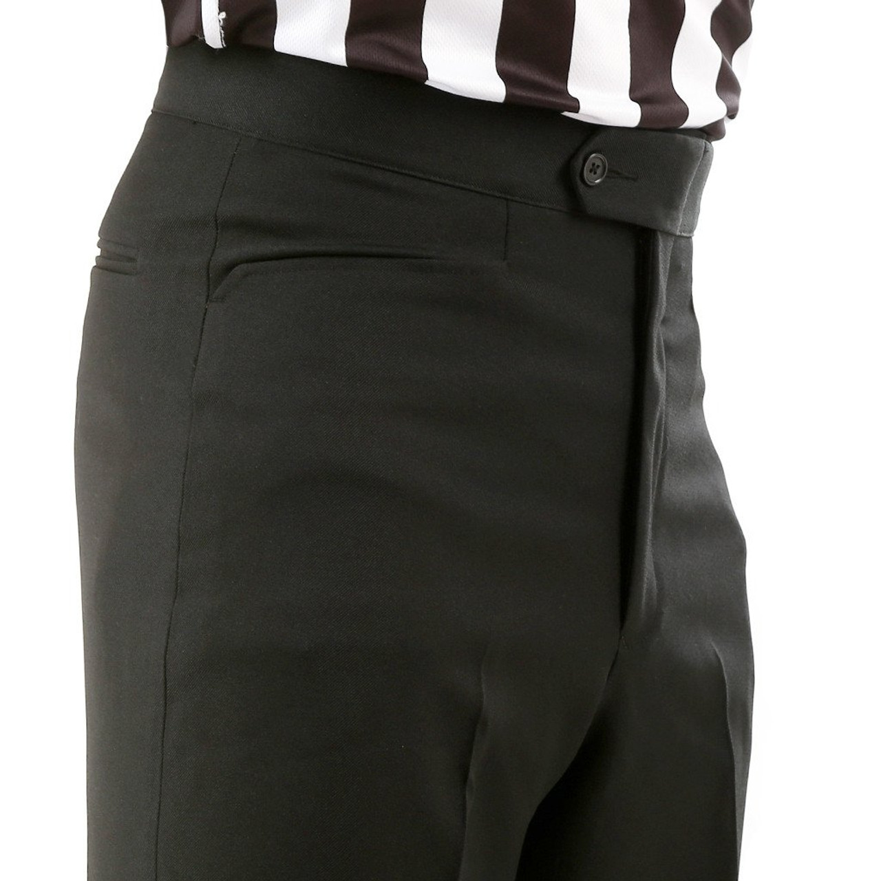 Referees Choice Western Pockets BKS-282 Smitty Womens 4-Way Stretch Flat Front Officials Pants Basketball Wrestling