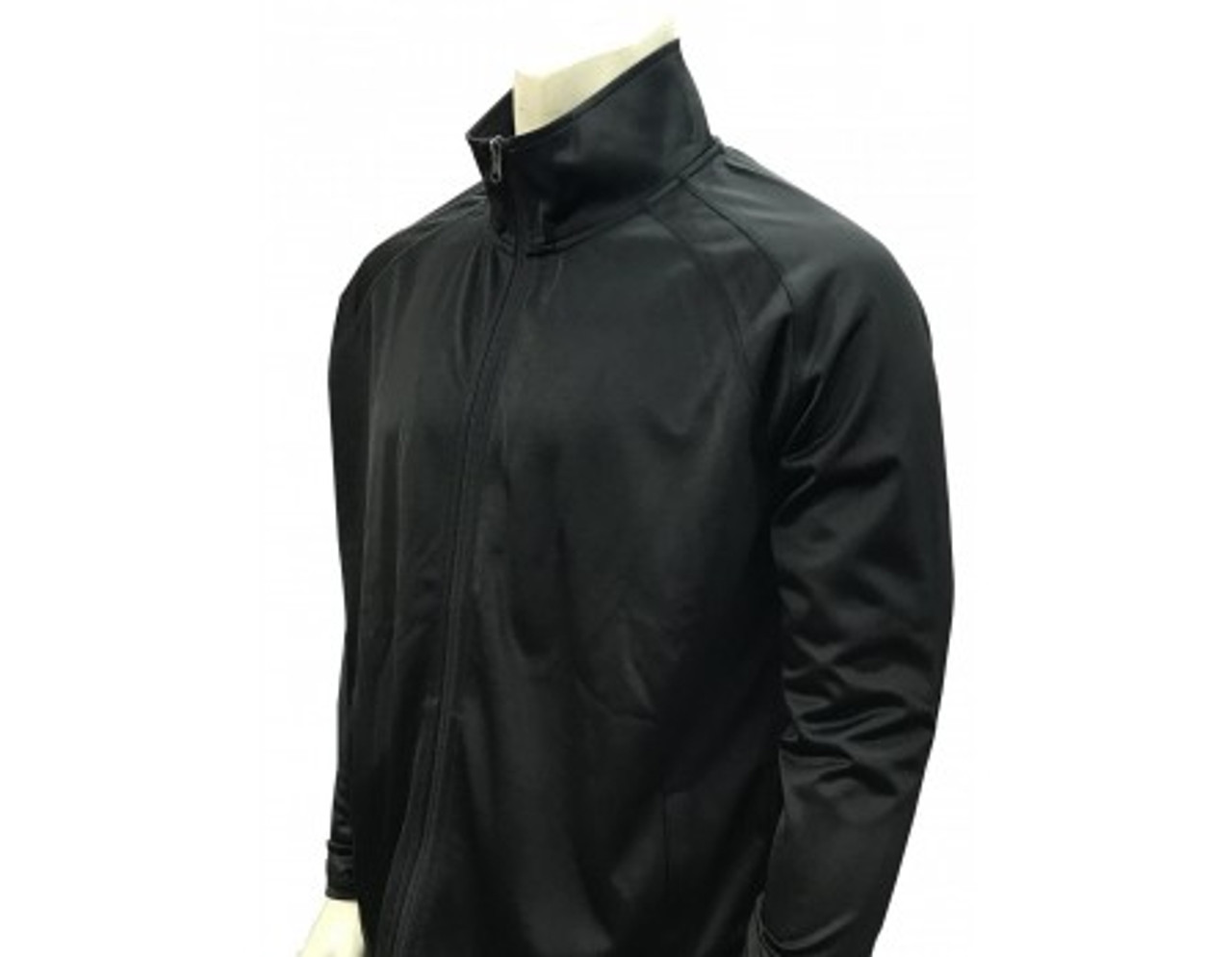 Black Referee Pregame Jacket with Cadet Collar