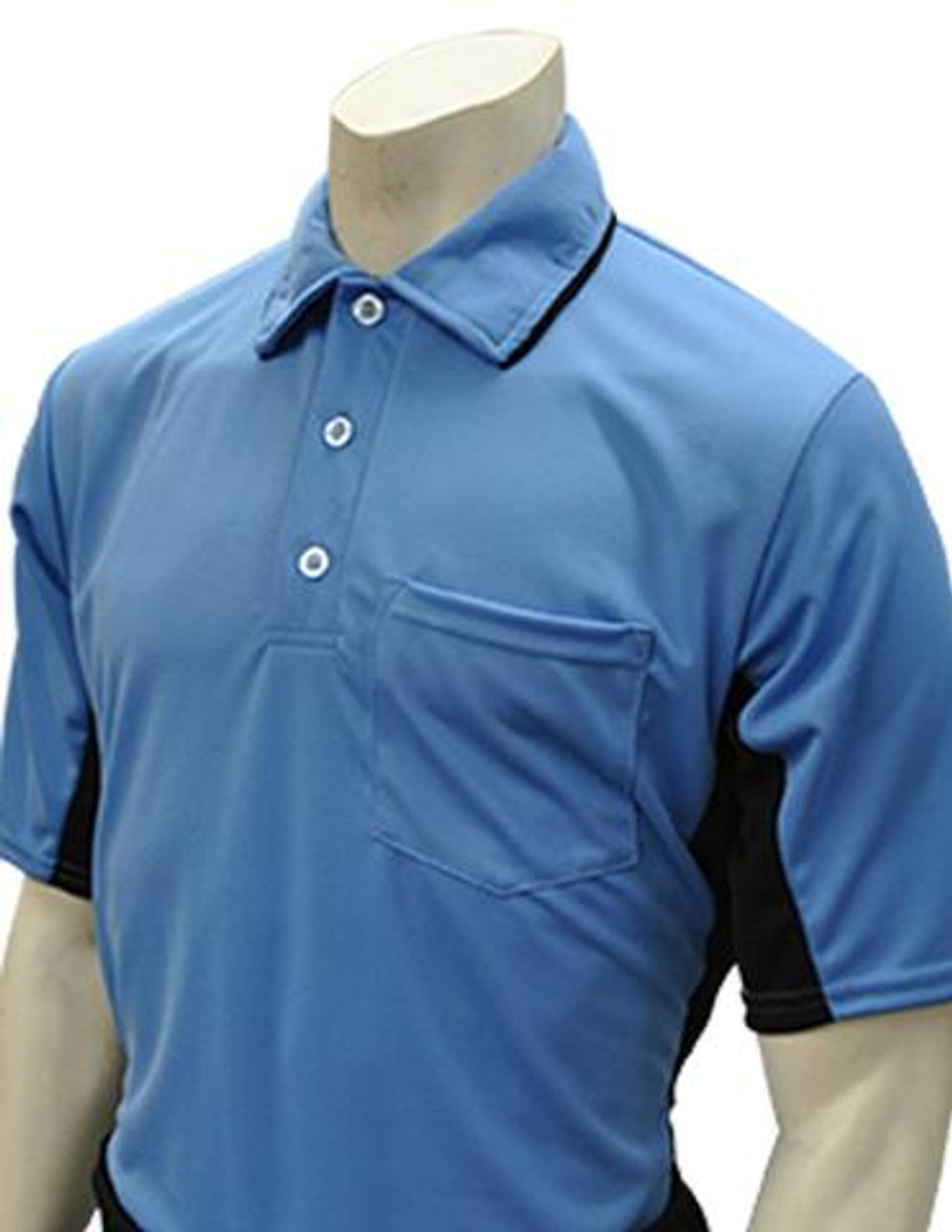 9460fb19d7f Smitty Official s Apparel MLB Style Sky Blue Umpire Shirt with Black Side  Panel