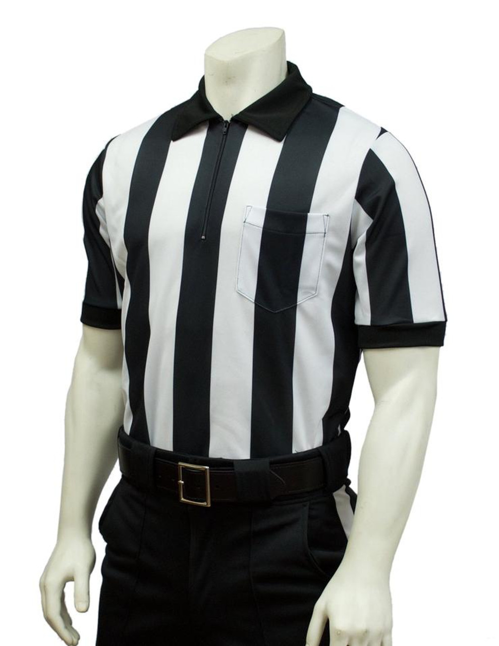 White Stripe Black Smitty Football Officials Shorts