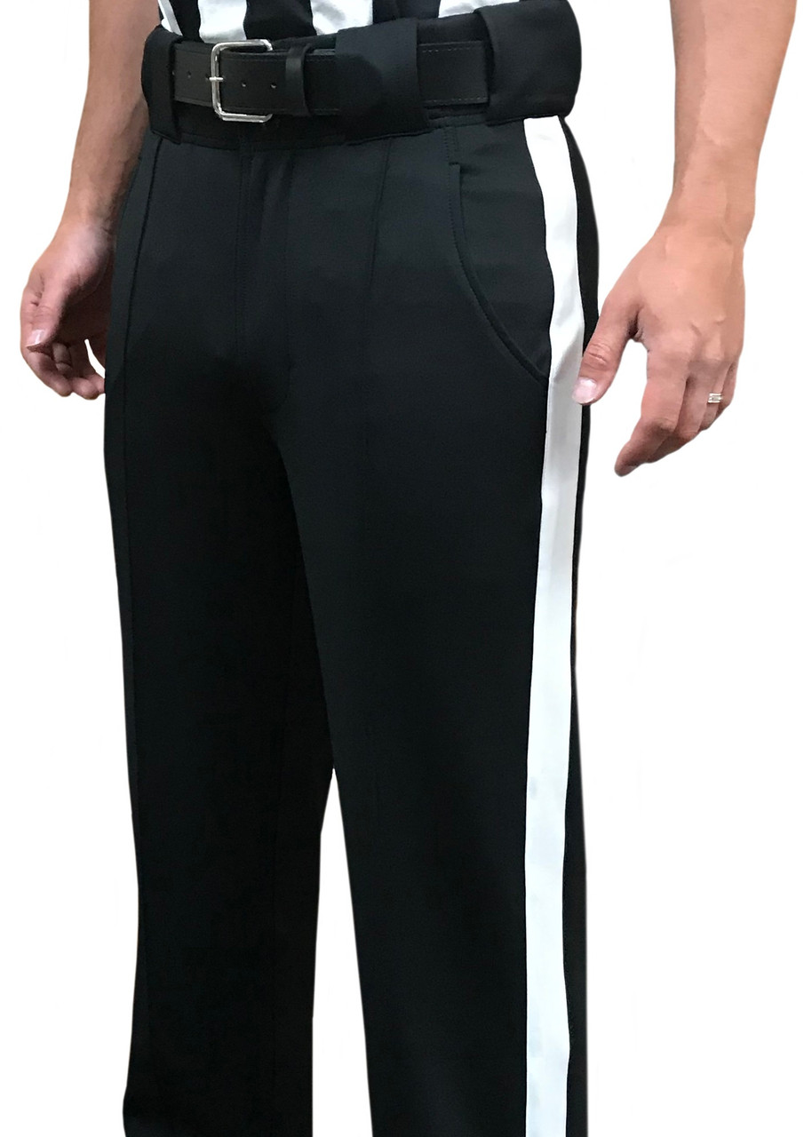 Slash Pockets Smitty Womens Basketball Premium 4-Way Stretch Pleated Front Officials Pants