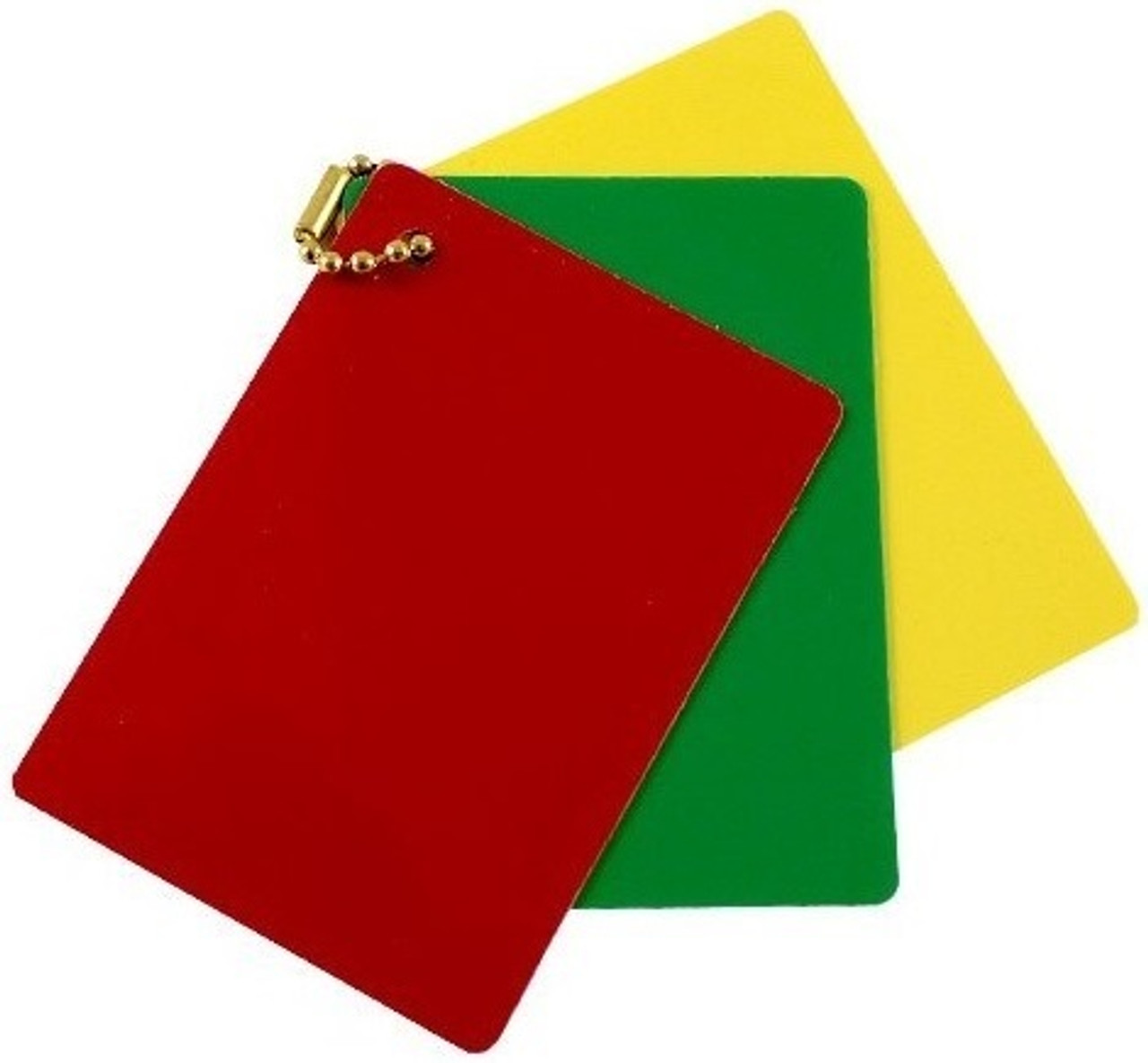 Women's Lacrosse Referee Red-Yellow-Green Penalty Cards