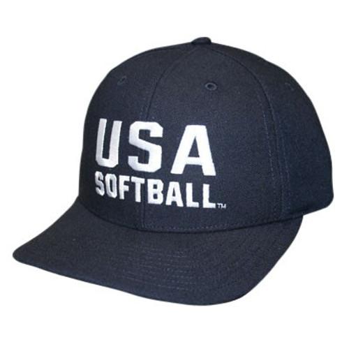 USA Softball Flex-fit 3 inch 8-stitch Umpire Cap