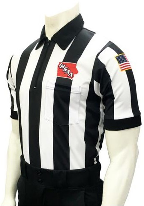 "Iowa IHSAA 2 1/4"" Stripe Body Flex® Football Referee Shirt"