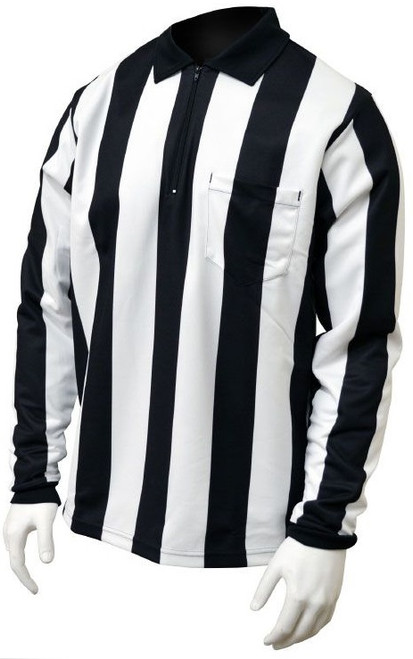 "Honig's 2.25"" Striped Long Sleeve Lined Football Referee Shirt"