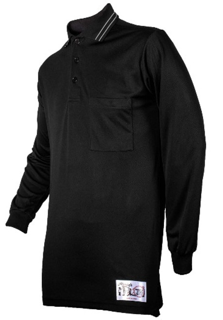 Honig's Long Sleeve Black Umpire Shirt