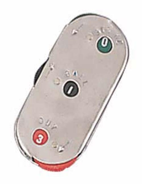 Metal 3-Dial Umpire Indicator
