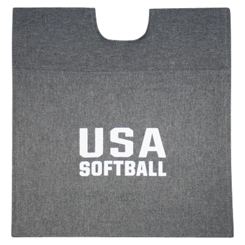 USA Softball Heather Grey Umpire Ball Bag