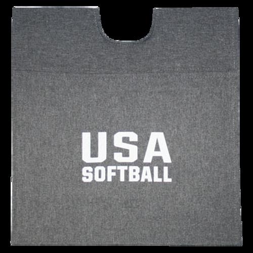 USA Softball Heather Grey Umpire Ball Bag