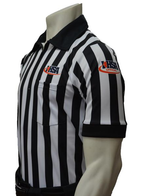 Illinois IHSA Embroidered Short Sleeve Elite Football Referee Shirt