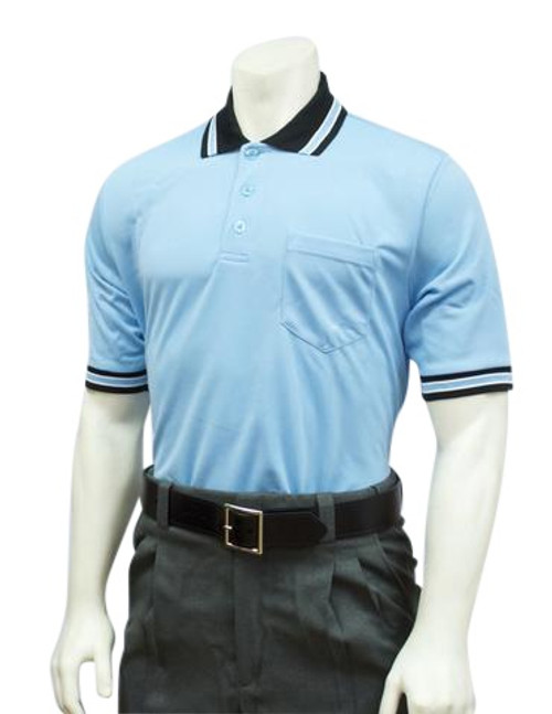 Smitty Official's Apparel Powder Blue Umpire Shirt with Black MLB Collar