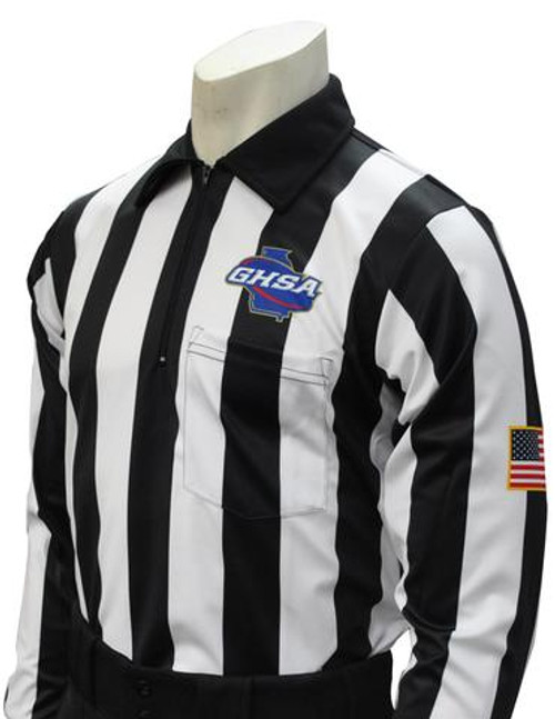 Georgia GHSA Dye Sublimated Long Sleeve Football Referee Shirt