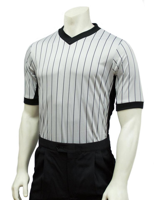 Smitty Official's Apparel Elite Grey Side Panel Referee Shirt
