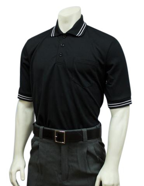 Smitty Black Ultra Mesh Baseball and Softball Umpire Shirt