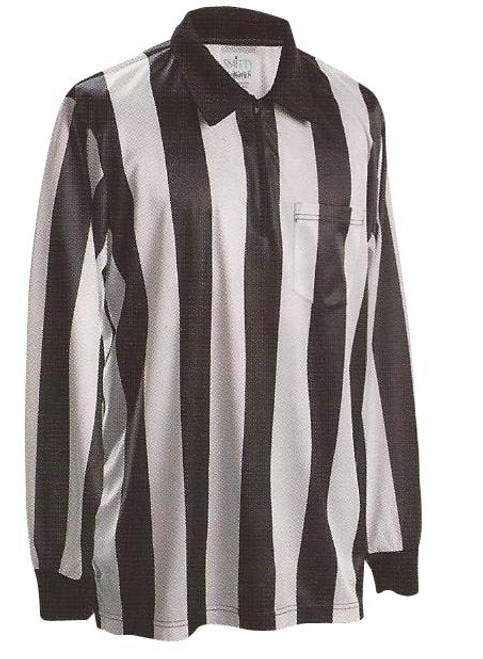 Smitty 2inch Stripe Heavyweight Long Sleeve Football Referee Shirt