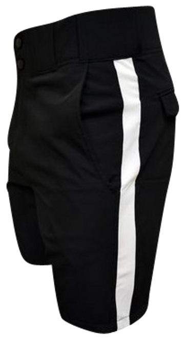 Honig's Black Lightweight Football Referee Shorts with White Stripe