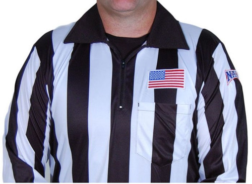 "NAIA Honig's Ultra Tech 2"" Stripe Long Sleeve Football Referee Shirt"