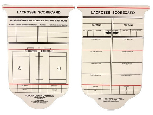 Lacrosse Referee Game Card