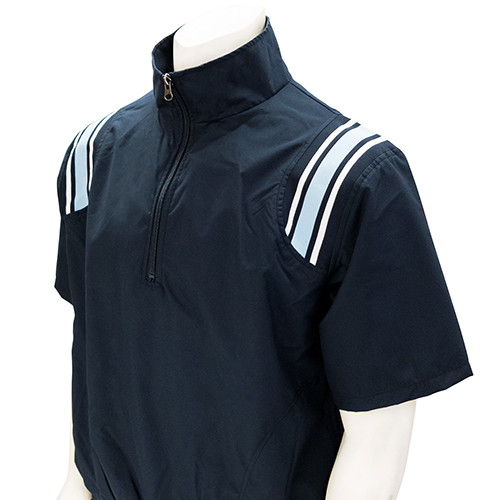 Smitty Navy Half Sleeve Umpire Pullover with Powder Trim