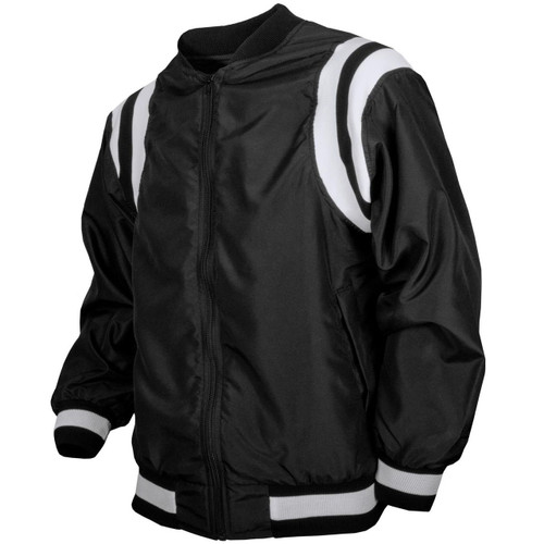 Honig's Black Referee Jacket with White Stripes