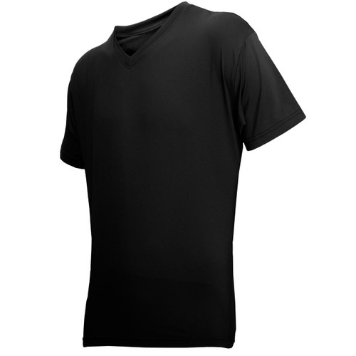 Honig's Black Cool Skin Short Sleeve V-Neck Shirt
