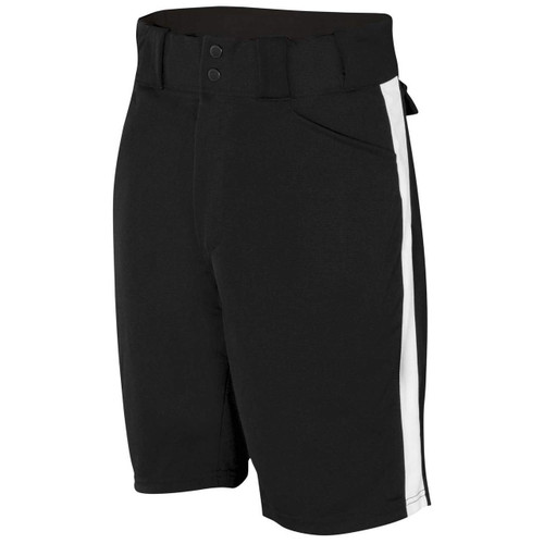 Smitty Black Referee Shorts with White Stripe