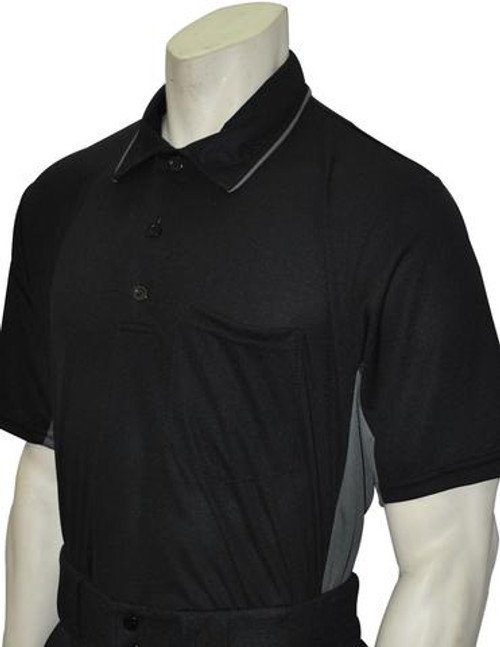 Smitty MLB Style Black Umpire Shirt with Grey Side Panel