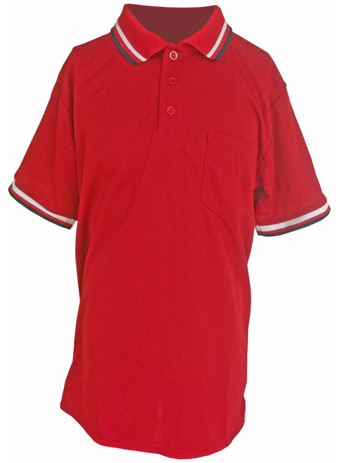 Teamwork Red Umpire Shirt with Pocket