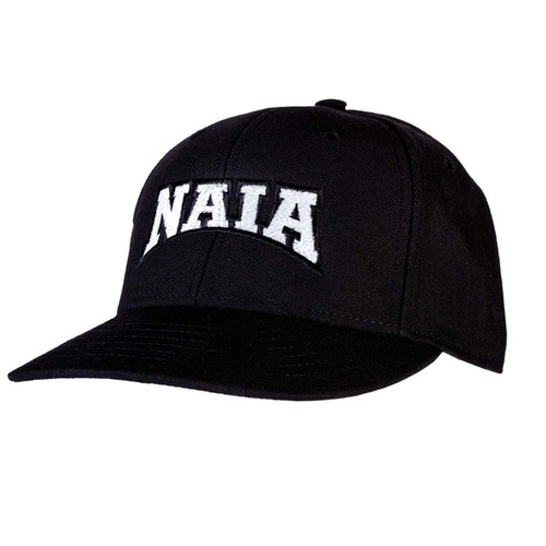 NAIA Black Fitted 6-stitch Umpire Cap