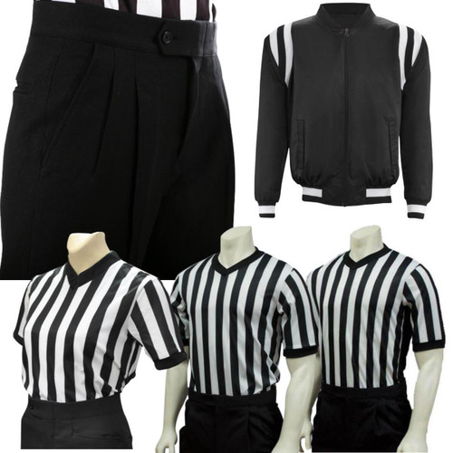 Basketball Referee Uniform Package Flat Front Slash Pocket Pants