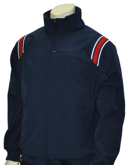 Navy Therma Base Umpire Jacket with Red and White Trim