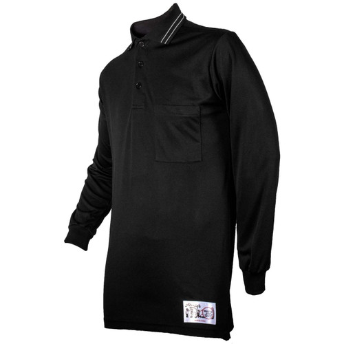 Honig's NAIA Black Long Sleeve Baseball Umpire Shirt