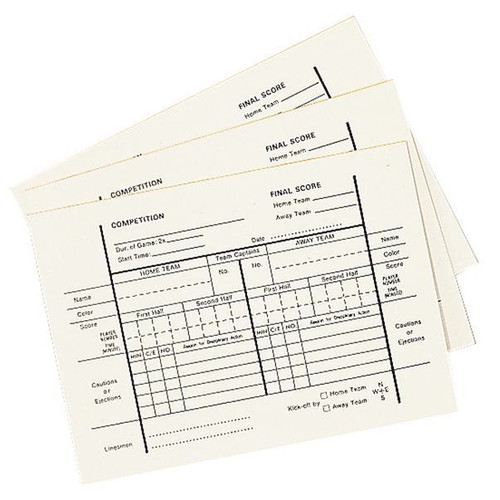 Champion Sports Soccer Referee Score Pads