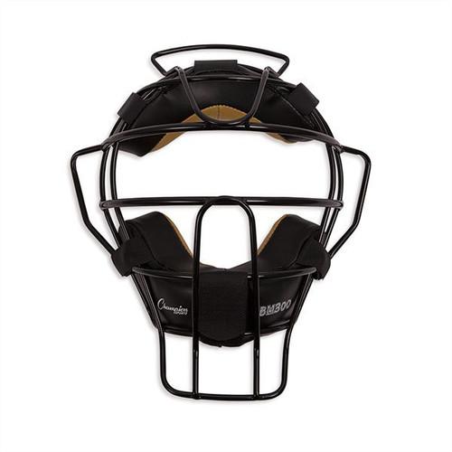Champion Sports Ultra Lightweight Umpire Mask Black Frame