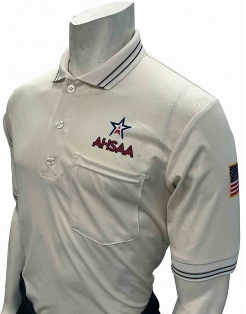 Alabama AHSAA Dye Sublimated Cream Umpire Shirt
